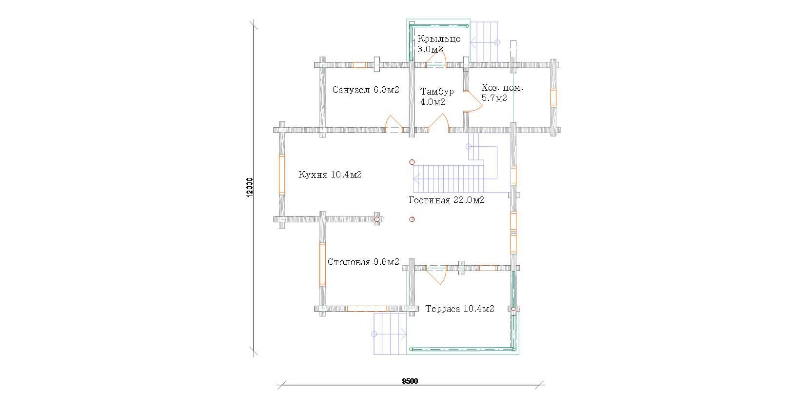 Экспликация помещений первого этажа