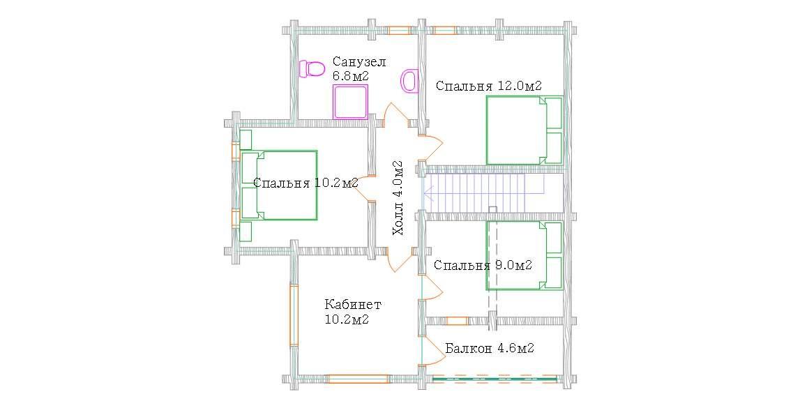 Экспликация помещений второго этажа